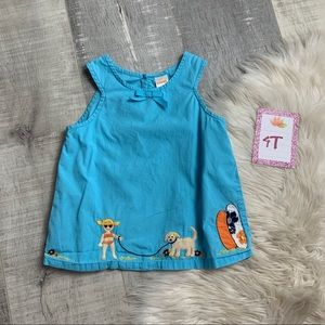 Gymboree Blue Embroidered Tank Top